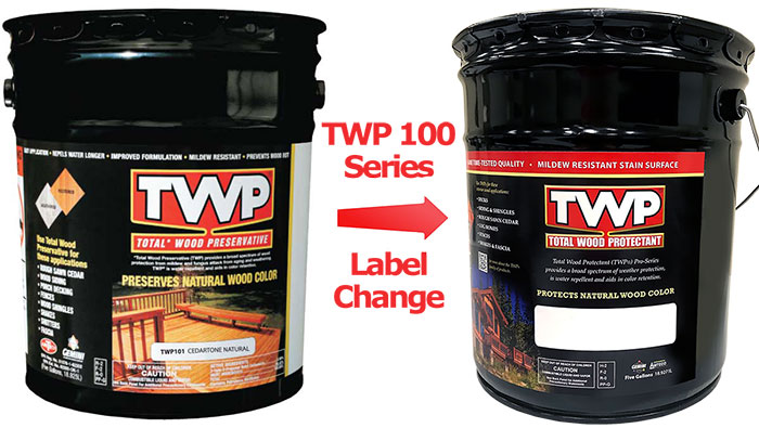 TWP 100 Series Label Change