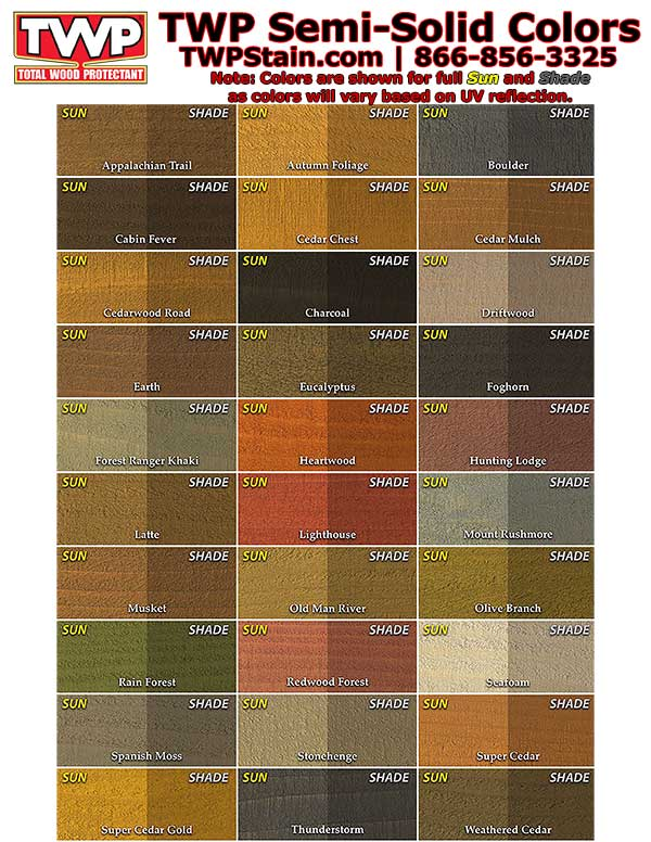 TWP Semi Solid Color Chart