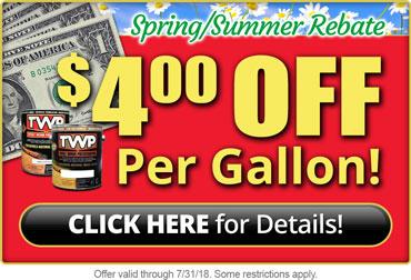 TWP Stain Rebate