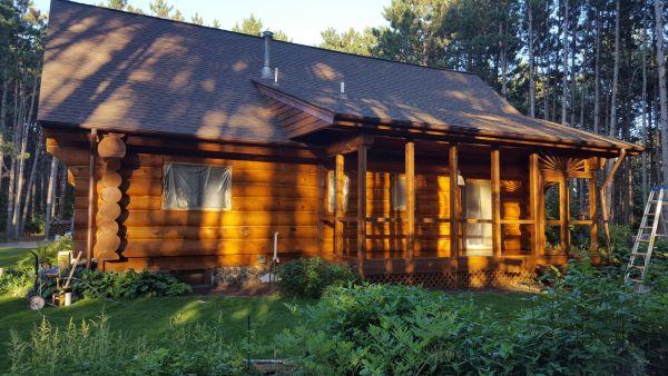 120 Pecan Log Cabin2
