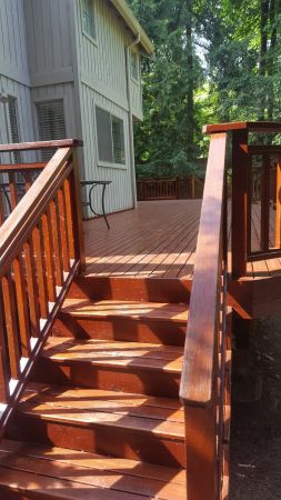 Finished Deck Stain  using TWP Rustic 1516 Rebate Pic 1 May 2018