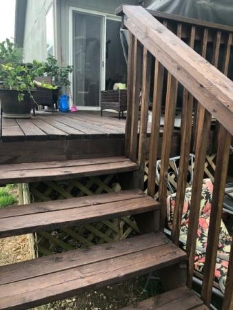 TWP 103 Dark Oak on Pine Deck Stairs