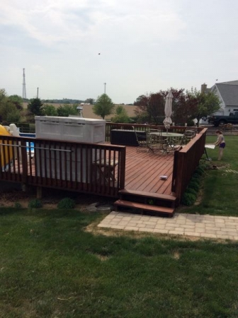 TWP 116 Rustic Large Deck