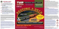 Gemini Restore-A-Deck Cleaner Instructions